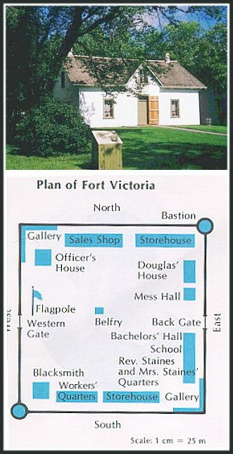 """FORT VICTORIA (Alberta) east of Edmonton AB on the North Saskatchewan River. It was established by the Hudson's Bay Company in 1864 as a trading post with the local Cree First Nations. Today, it is a historical museum known as Victoria Settlement. Here is a quote from Sam Steele NWMP in 1874 on their trek west """"At last, however, we reached Victoria, a H B Co post with a palisaded enclosure, situated on a narrow ridge along the Saskatchewan. """""""