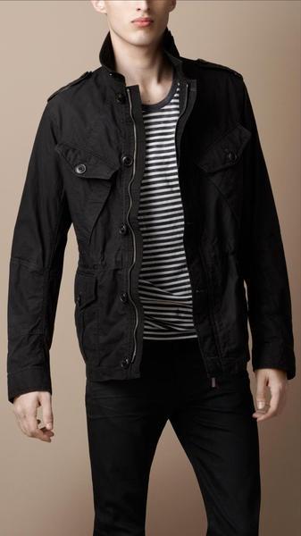 Burberry Brit Heritage Cotton Field Jacket in Black for Men