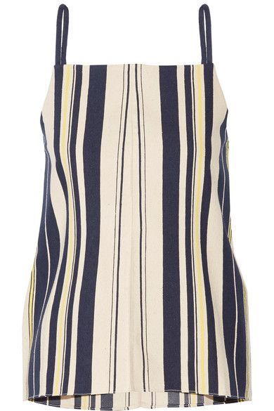 ZeusDione - Kymi Striped Slub Silk Camisole - Cream - FR