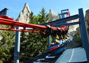 On Vortex, riders will enjoy the thrills of Canada's first suspended roller coaster. This steel coaster plunges over Wonder Mountain, reaching speeds of 90km/h.