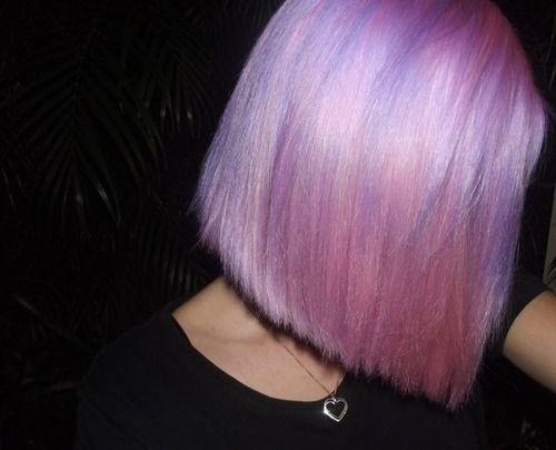 Pink/purple bob.