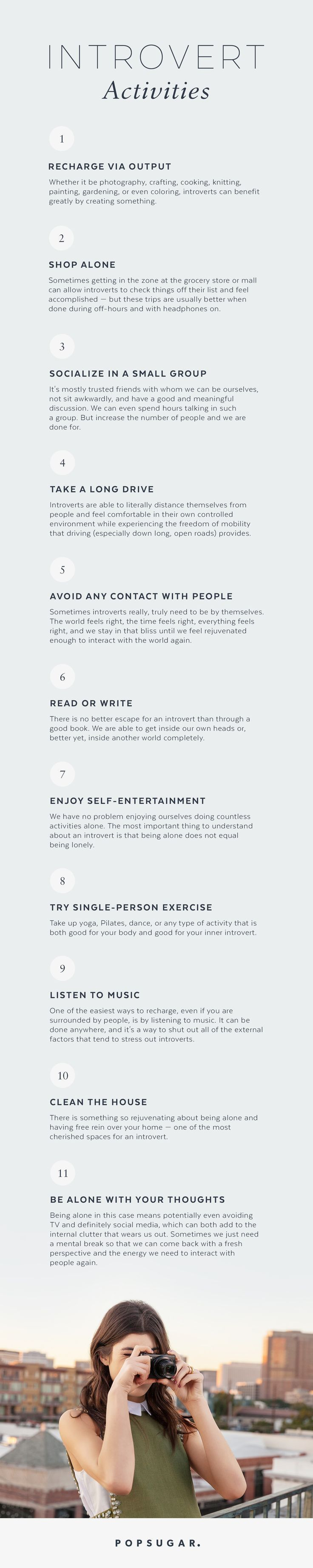 Tips for introverts.