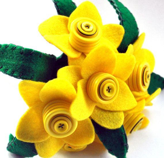 Daffodil Bouquet /  Felt Flower Bouquet / by CharlieLaurieDesigns, £24.99