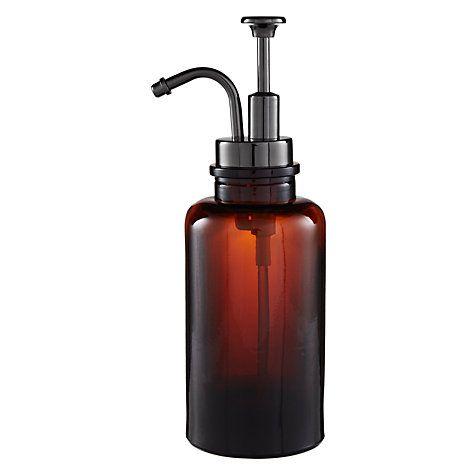 Buy John Lewis Amber Glass Soap Pump / Lotion Dispenser Online at  johnlewis.com