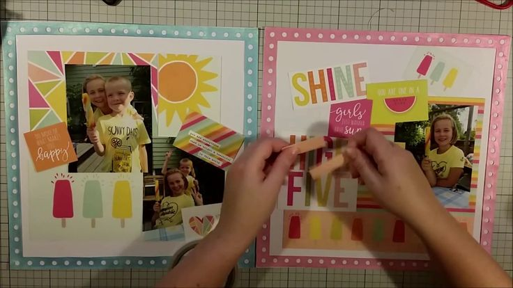 #338 Happy Day - Scrapbook Process