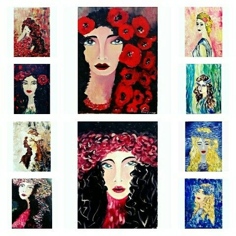 """Set of 10 oil paintings 30/40 cm, 22""""x16"""" each...all for 300£  [or 35£ each ]"""
