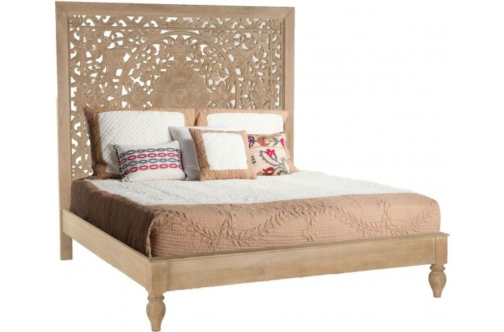 Haveli Whitewashed King Platform Bed From Home Trends