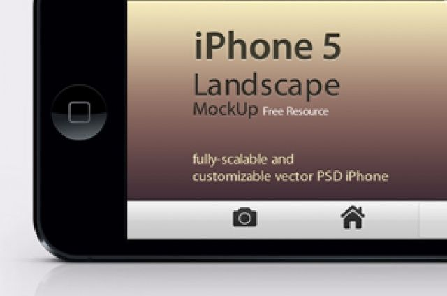 Our iPhone 5 landscape psd vector mockup template is a fully-scalable vector shape iPhone 5 psd in landscape layout. It comes...