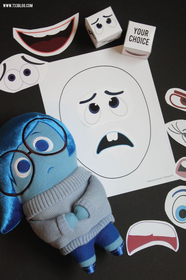 Inside Out inspired Mixed Up Emotions Game: