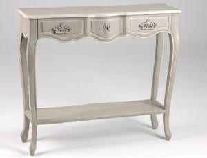 meuble d 39 entr e de charme console avec un tiroir patin e lin de la marque amadeus en vente sur. Black Bedroom Furniture Sets. Home Design Ideas