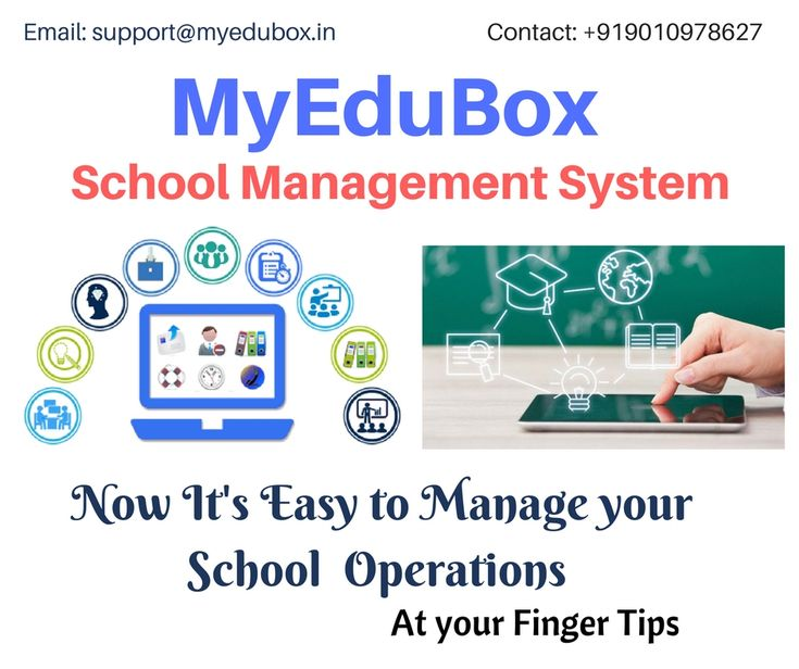 Best Complete School Management Software Online for all School needs   MYEDUBOX OFFERING SCHOOL ERP SOFTWARE ABSOLUTELY FREE 1 YEAR  MyEduBox  School Management System has the following Features:  Multiple Branches Management Student Information System Attendance Admissions Online Registration Mentor Management  Gradebook Management  Student Assessments Reports and Analytics  Resources Management Inventory Tracking Curricular and Co-curricular Management and more  http://www.myedubox.in