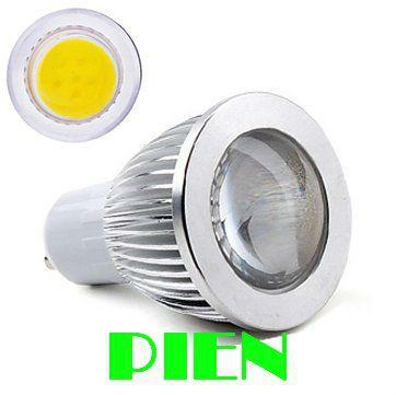 Dhl бесплатная доставка + 50 шт. GU10 5 Вт 110 В - 240 В COB светодиодных ламп свет теплый белый / холодный из светодиодов COB лампочка DHL