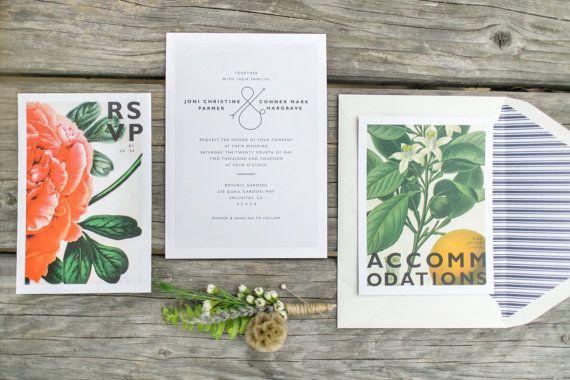 Classic meets Contemporary Botanic Wedding by jonijoprints on Etsy, $7.00
