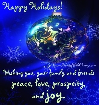 Happy holiday wishes quote via www.flowingwithchange.com