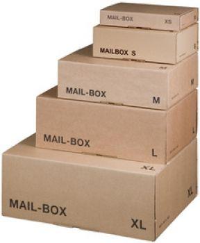 Officestore 3000 Shop für Bürotechnik-PAPYRUS Paket-Versandkarton MAIL BOX, Größe: XS, braun