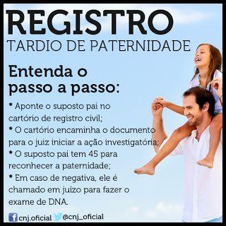 FG Advocacia: REGISTRO TARDIO DE PATERNIDADE