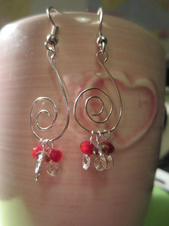 Silver Spiral Earrings by Jewelpedia on Etsy, Kč180.00