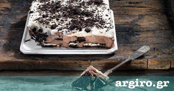 Γλυκό ψυγείου με γεμιστά μπισκότα από την Αργυρώ Μπαρμπαρίγου | Εύκολο, γρήγορο και φανταστικο γλυκό ψυγείου με μπισκότα γεμιστά. Εξαφανίζεται στο λεπτό!