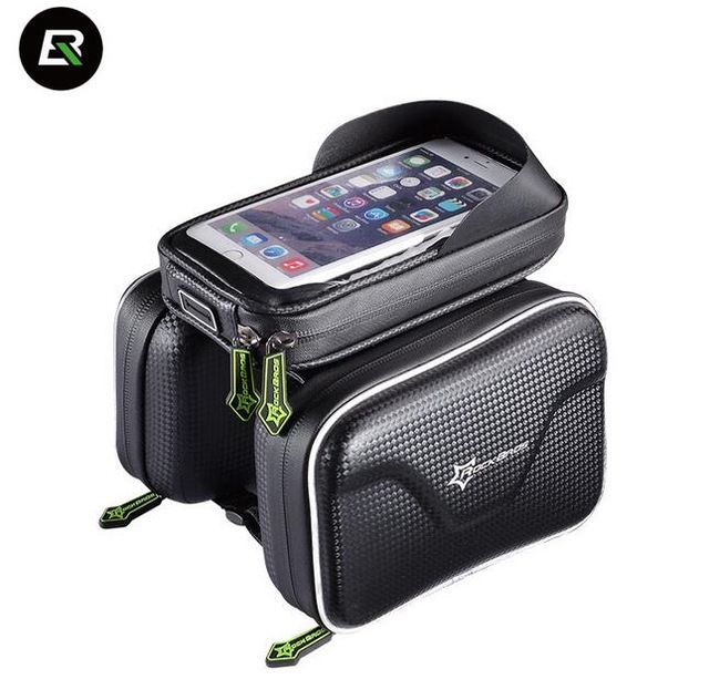 ROCKBROS Waterproof Cycling Bike Bicycle Front Bag Top Tube Frame Rod 5.8 to 6 Inches IPouch Touch Screen Cycle Phone Bag 2 Size