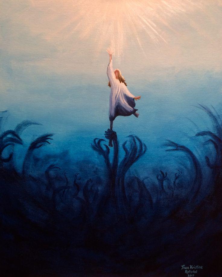 'Longing' - painting, acrylics