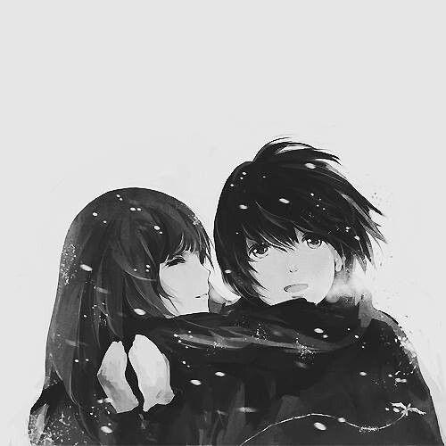 couple absolument trop choux 3 render noir et blanc pinterest couple amour et anime et manga. Black Bedroom Furniture Sets. Home Design Ideas