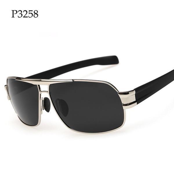 FuzWeb:Vintage Men Polarized Sunglasses er Driving Silicone Nose Pad Gafas De Sol Hombre With TR9 Legs