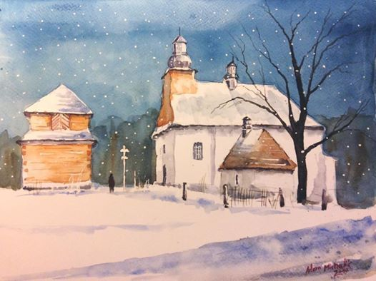 watercolour-Łopienka