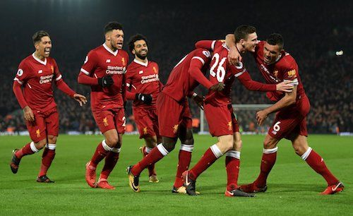 After slamming in 3 goals in 9 minutes, #Liverpool had to survive a late wobble to inflict the first defeat in 33 games on #ManchesterCity, 4-3. 14.01.18