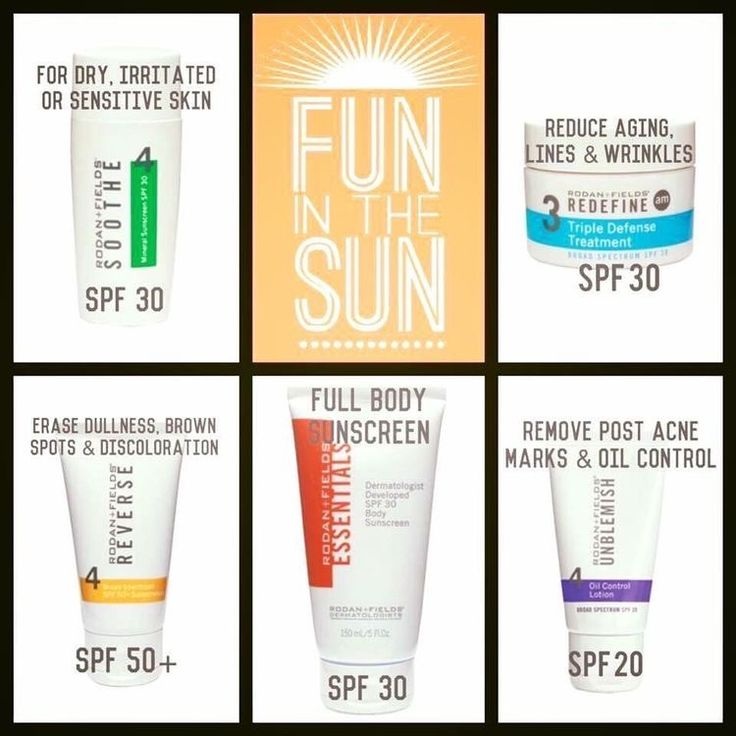 Rodan and Field products contain SPF. Protect that skin!!