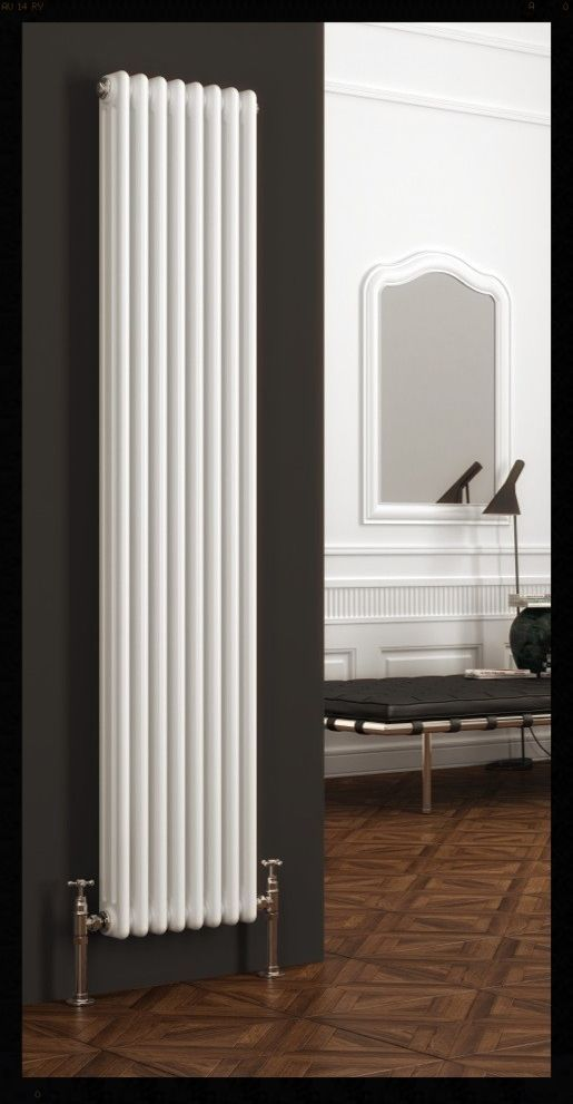 NEW Designer Two 2 Column Vertical White Radiator 490MM Wide 2000MM High  4709btu