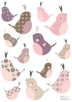 Lot stickers Oiseaux (13 stickers)
