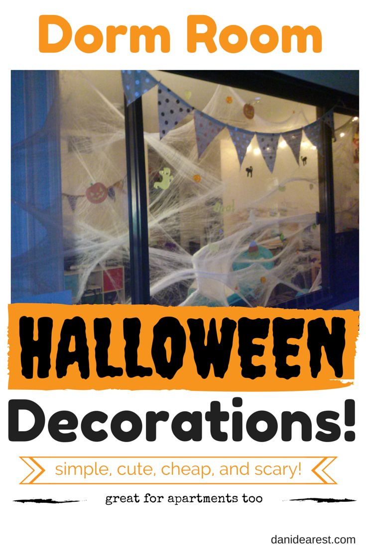 Quick, easy, and cheap Halloween dorm room decorations!