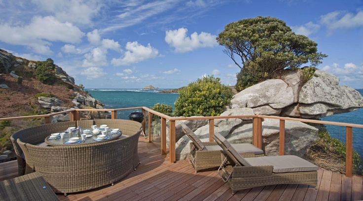 The view from the new Sea Garden Cottages on Tresco, Isles of Scilly