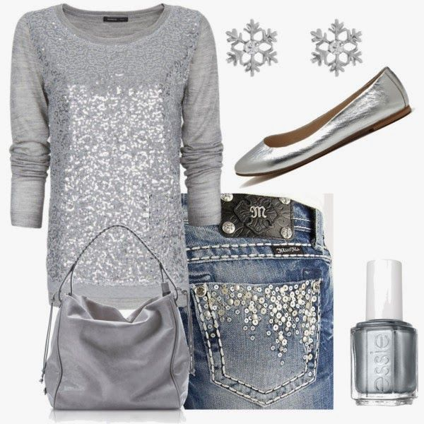 Casual OutfitWoman Fashion, Casual Outfit, Style, Silver, Casual Winter, Jeans, Winter Outfit, Miss Mes, New Years Eve