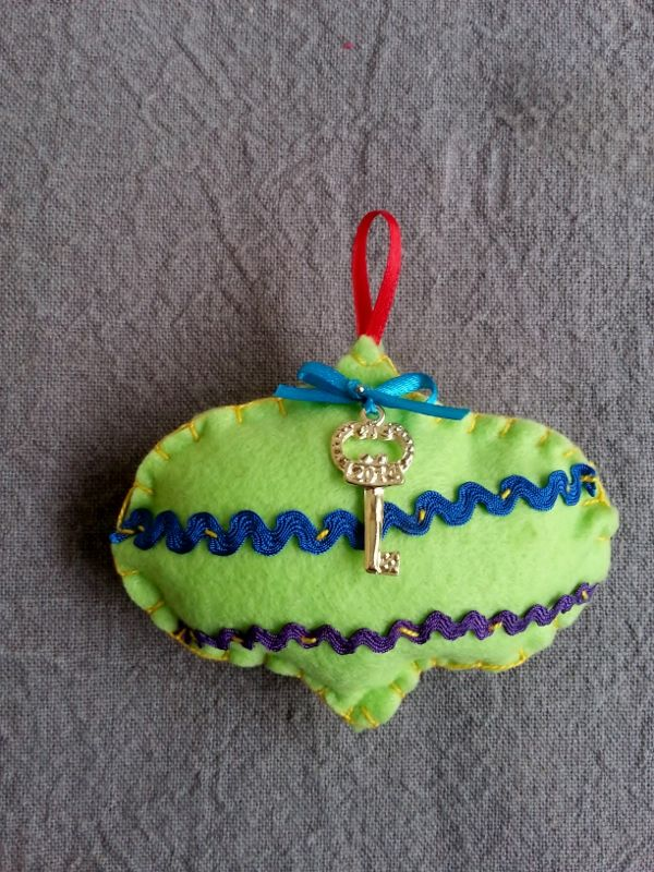 Handmade lucky Christmas pomegranate