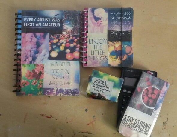 Diy school supplies tumblr inspired diy pinterest for Back to school notebook decoration ideas