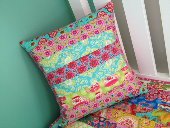 tillytom    quilted throw pillow  cover only by tillytomdesigns, $40.00