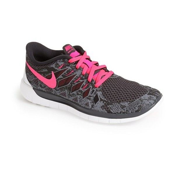 Nike 'Free 5.0' Running Shoe ($66) ❤ liked on Polyvore featuring shoes, athletic shoes, nike footwear, athletic running shoes, light weight running shoes, running shoes and nike