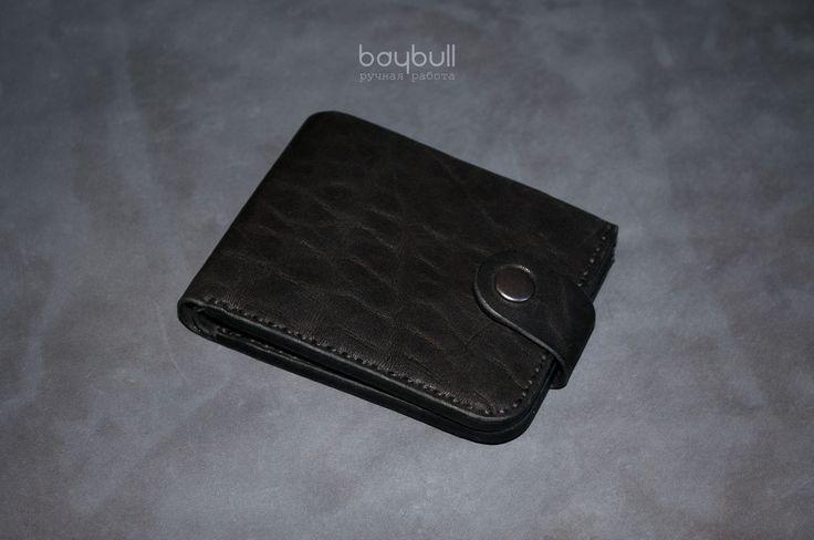 Купить Портмоне Классика Чёрный буйвол - черный, портмоне, портмоне из кожи, портмоне ручной работы