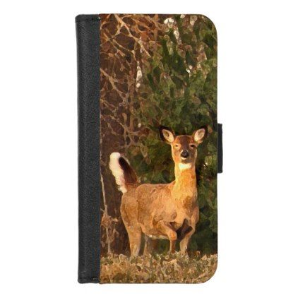 Deer at Sunrise iPhone 8/7 Wallet Case - white gifts elegant diy gift ideas