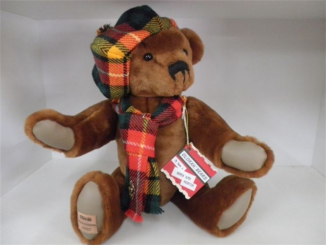 Dlorah Bears are available at Edelweiss Gallery. Each bear is handmade, individually numbered, and no two are the same.