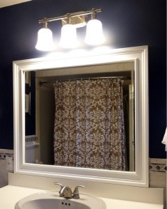 How to add molding to a mirror