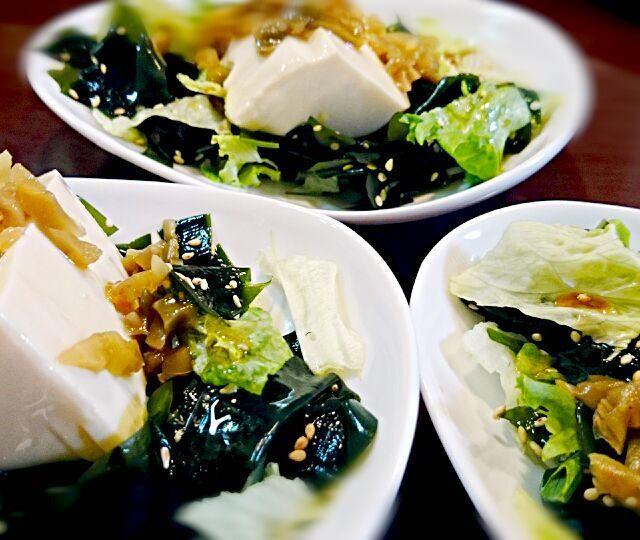 簡単だけど、ウマイんだなぁ~これが(*´∀`) ザーサイはなくてもOK!しらすやもみ海苔をのせても合いそうですね。 - 22件のもぐもぐ - わかめたっぷり!豆腐サラダ by nao10