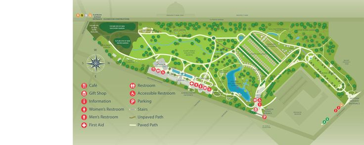Brooklyn Botanic Garden map