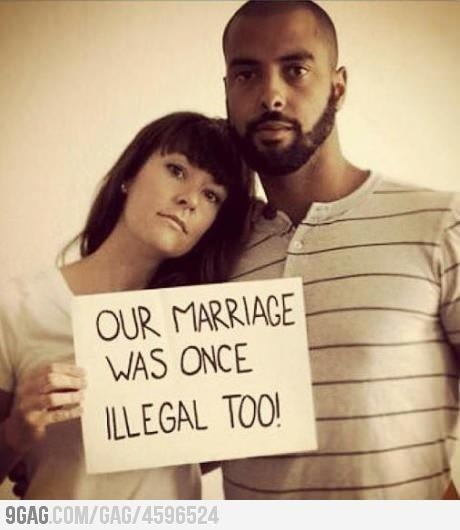 Bans on interracial marriage same-sex marriage -- parallels