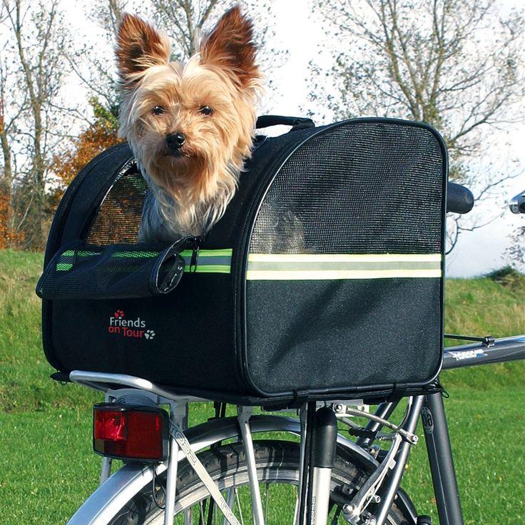 Animalerie  Sac de transport Trixie sur porte-bagage pour chien  L 35 x l 29 x H 28 cm