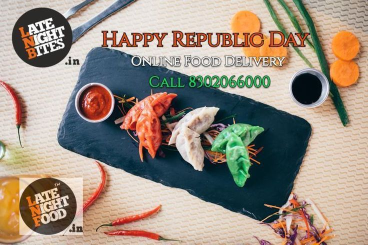 Happy Republic Day Jaipur ! We Deliver Food , Baverages , Deserts N Many More.. # Pinkcity # Osm Weather # Republic Day # Food # Fun # Timing 2 PM to 3 AM Click : www.latenightfood.in and www.latenightbites.in Call : 8302066000