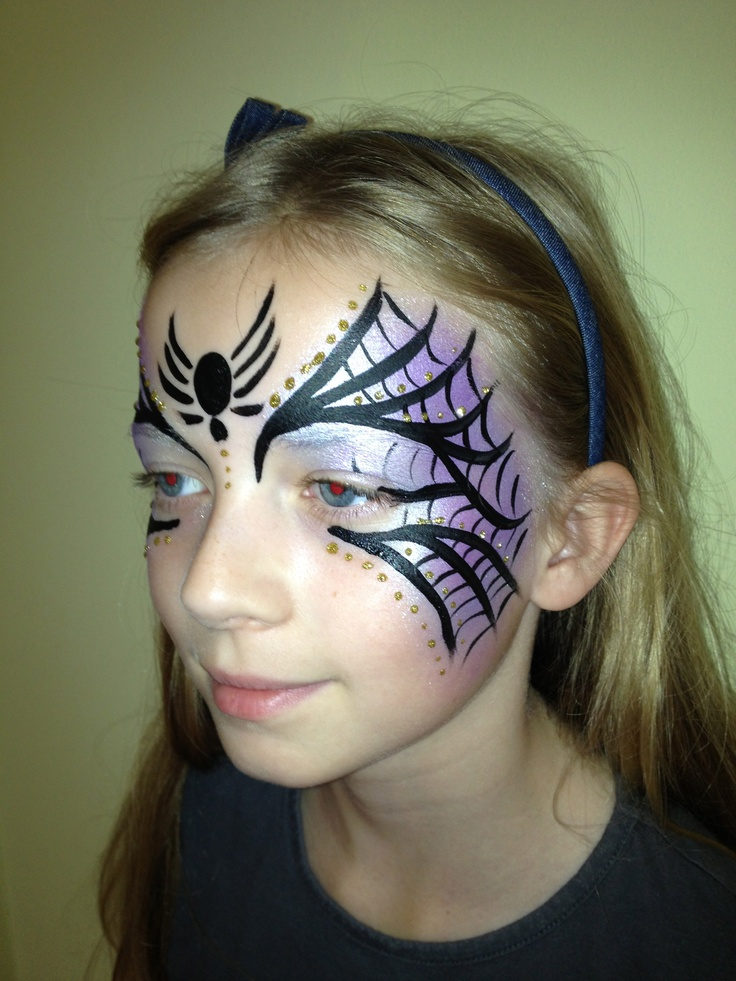 17 Best Images About Facepainting Spiders U0026 Webs On Pinterest | Halloween Spider Girl And Paint