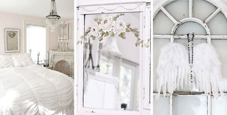 Shabby Chic White Romantic Bedroom