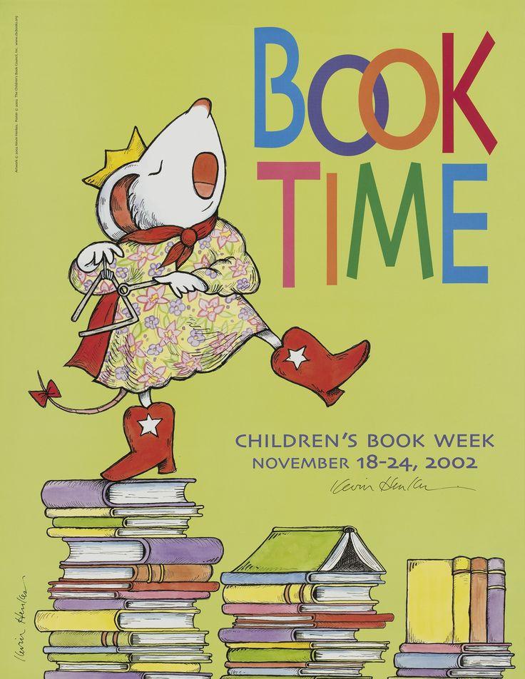 Official Children's Book Week poster, 2002, Kevin Henkes (B. 1960)
